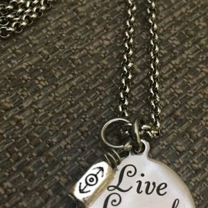Stainless steel gratification pendant necklace